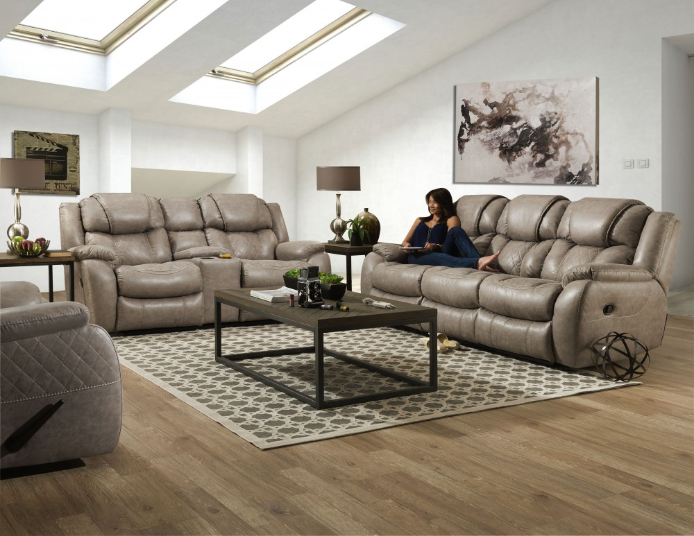 Homestretch Reclining Sofa and Loveseat