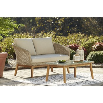 Crystal Cave - Loveseat w/Table (2/CN)