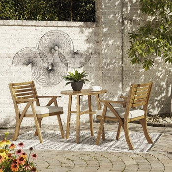 Vallerie - Chairs w/CUSH/Table Set (3/CN)
