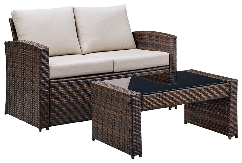 East Brook - Loveseat w/Table (2/CN)