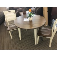AS IS Drop Leaf Table w/ 2 Chairs