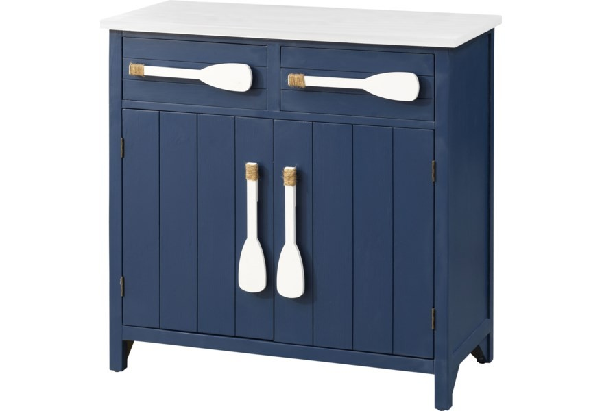 Pieces in Paradise Coastal Two Drawer Paddle Cabinet
