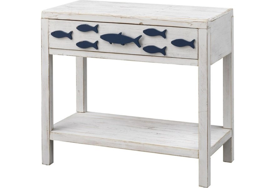 Pieces in Paradise Coastal Fish Accent Table