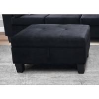 Miri Black Ottoman