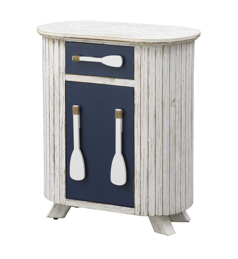 White Paddle Accent Cabinet