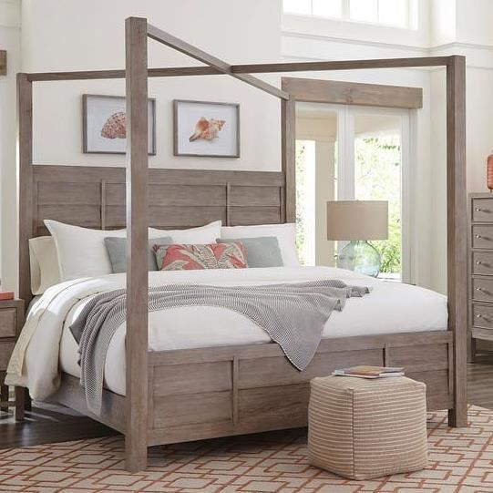 Water's Edge - King Canopy Bed