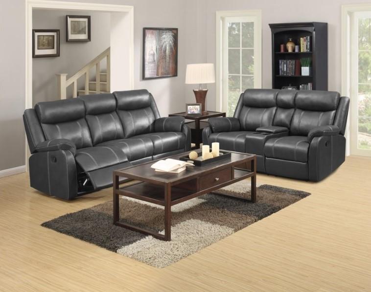 Domino - Valor Carbon Reclining Sofa and Loveseat Set (2/CN)