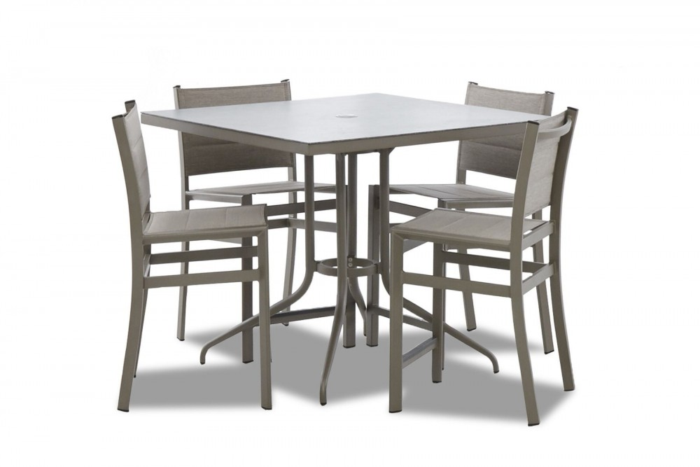 Urban Retreat - Square Counter Height Outdoor Dining Set (5/CN)
