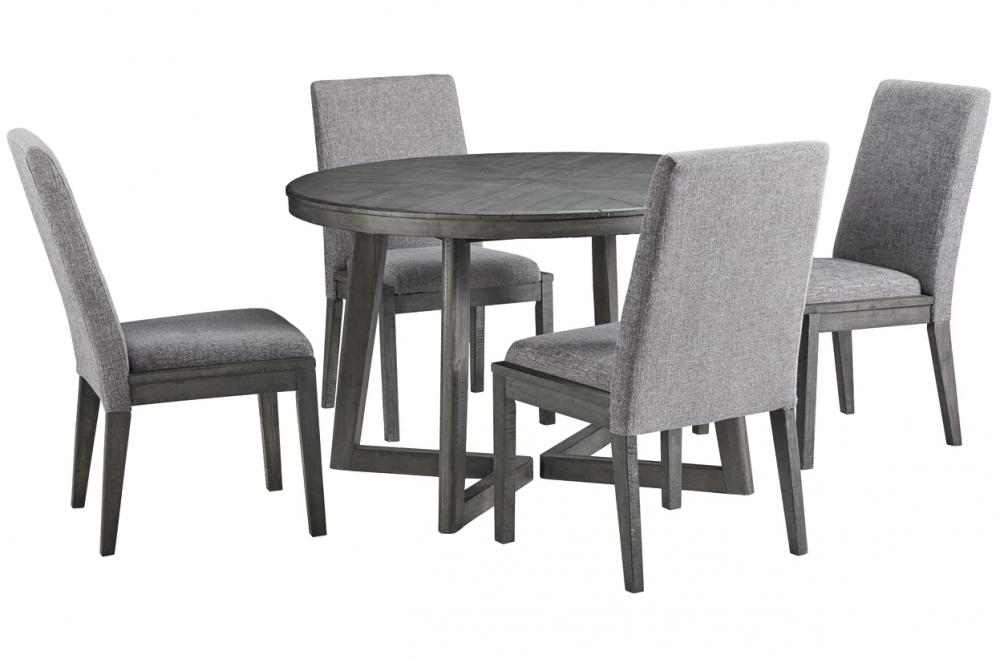 Besteneer - Round Dining Set (5/CN)