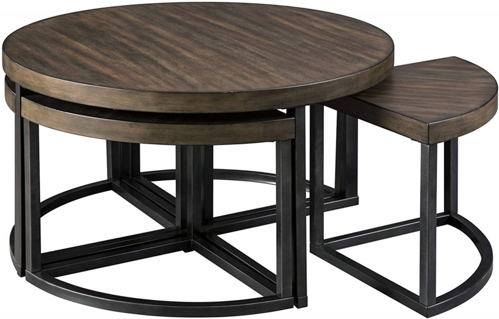 Johurst - Cocktail Table with Stools (5/CN)