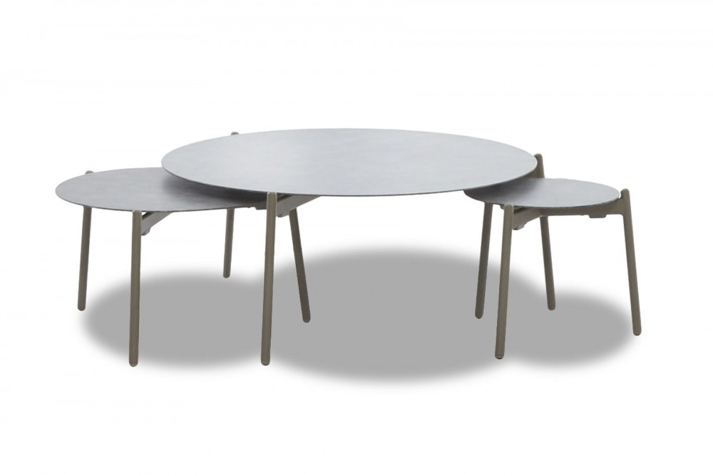 Urban Retreat - Round Outdoor Cocktail Table Set (3/CN)