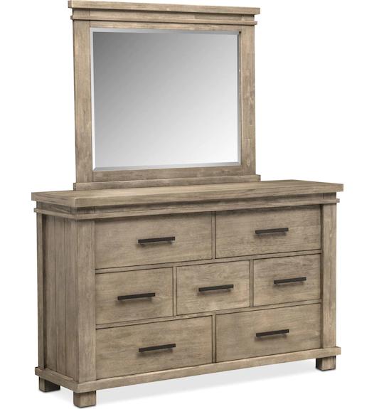 Tribeca - Gray Dresser and Mirror