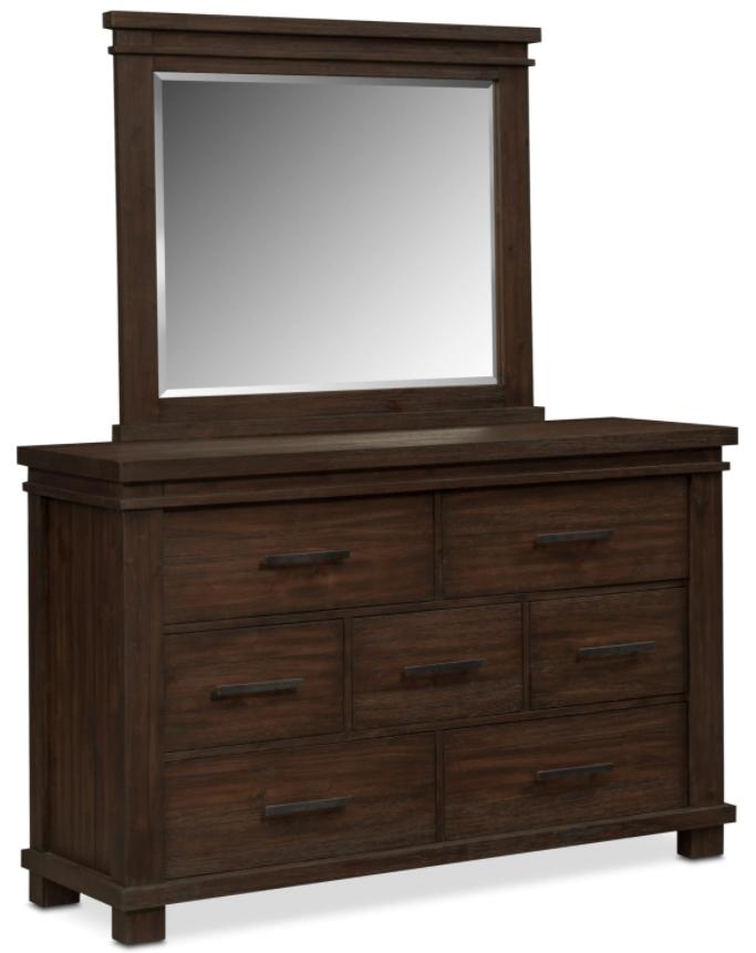 Tribeca - Tobacco Dresser and Mirror