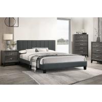 Shrader Queen Dark Grey Platform Bed Frame