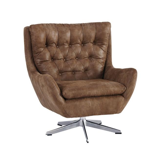 Velburg - Brown Swivel Accent Chair