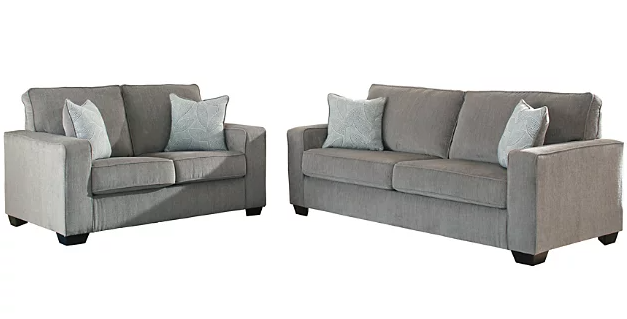 Altari - Alloy Sofa and Loveseat Set