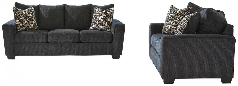 Wixon - Slate Sofa and Loveseat Set