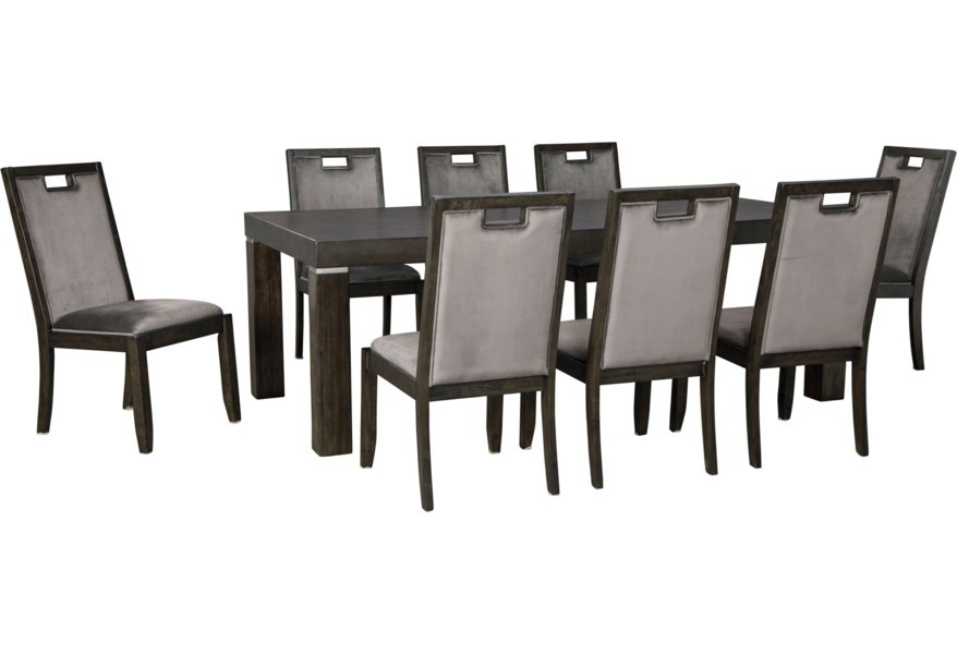 Hyndell - Extension Dining Set (9/CN)