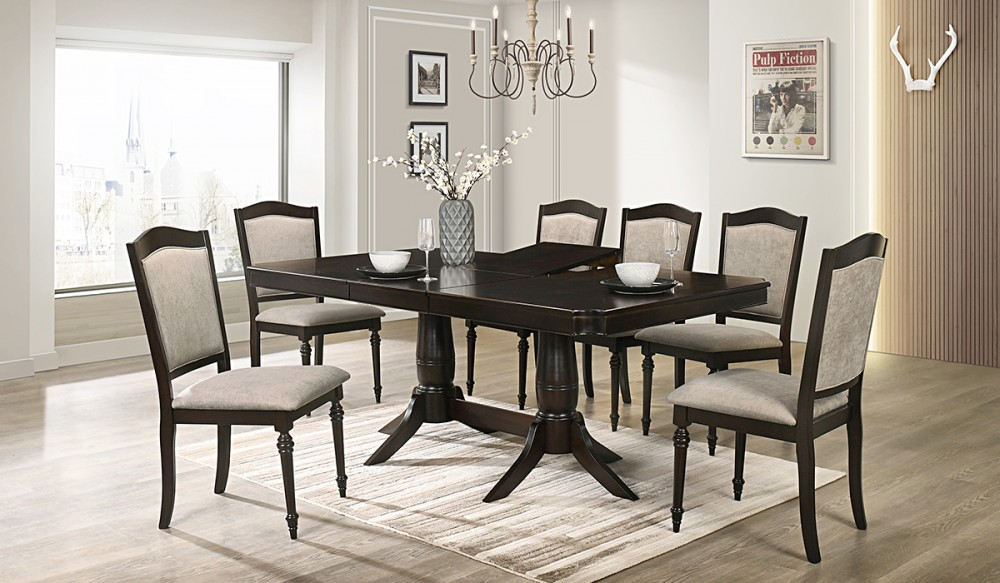 Windsor Dining Table + 6 Chairs