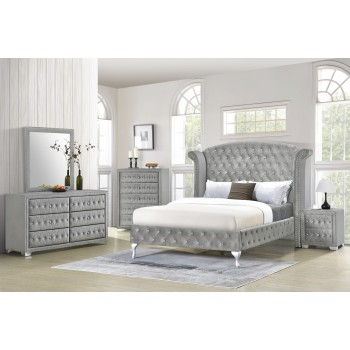 Angel Silver Dresser Mirror Queen Bed
