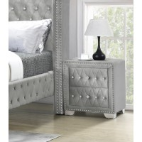 Angel Silver Night Stand