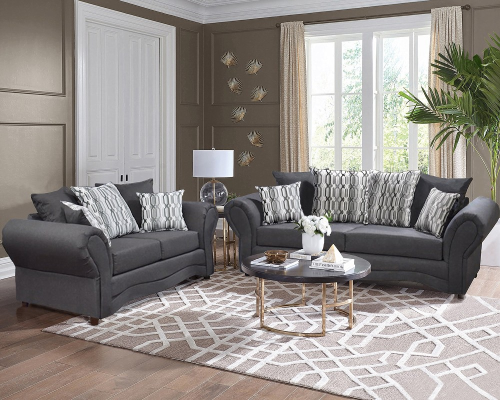 Vickie Grey Sofa & Love