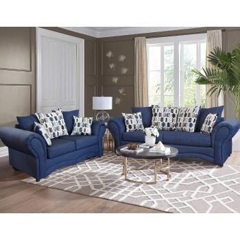 Vickie Blue Sofa & Love
