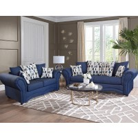 Vickie Blue Sofa & Love