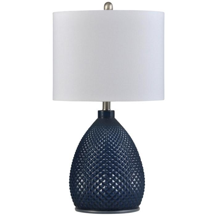 Navy Blue - Transitional Glass Table Lamp (1/CN)