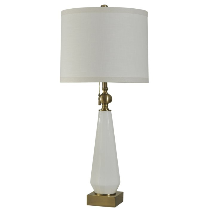 White And Antique Gold - Table Lamp (1/CN)