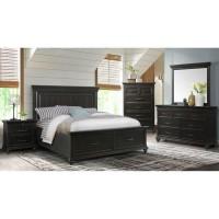 Slater Black Queen Bed