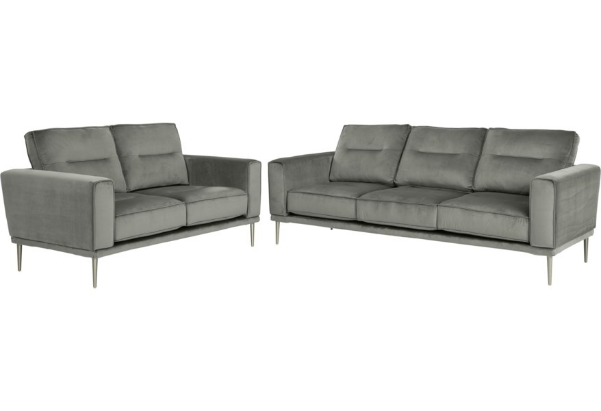 Macleary - Steel Sofa and Loveseat Set