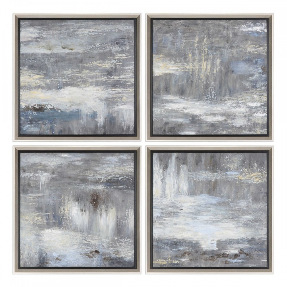 Shades Of Gray - Framed Canvas Art (4/CN)
