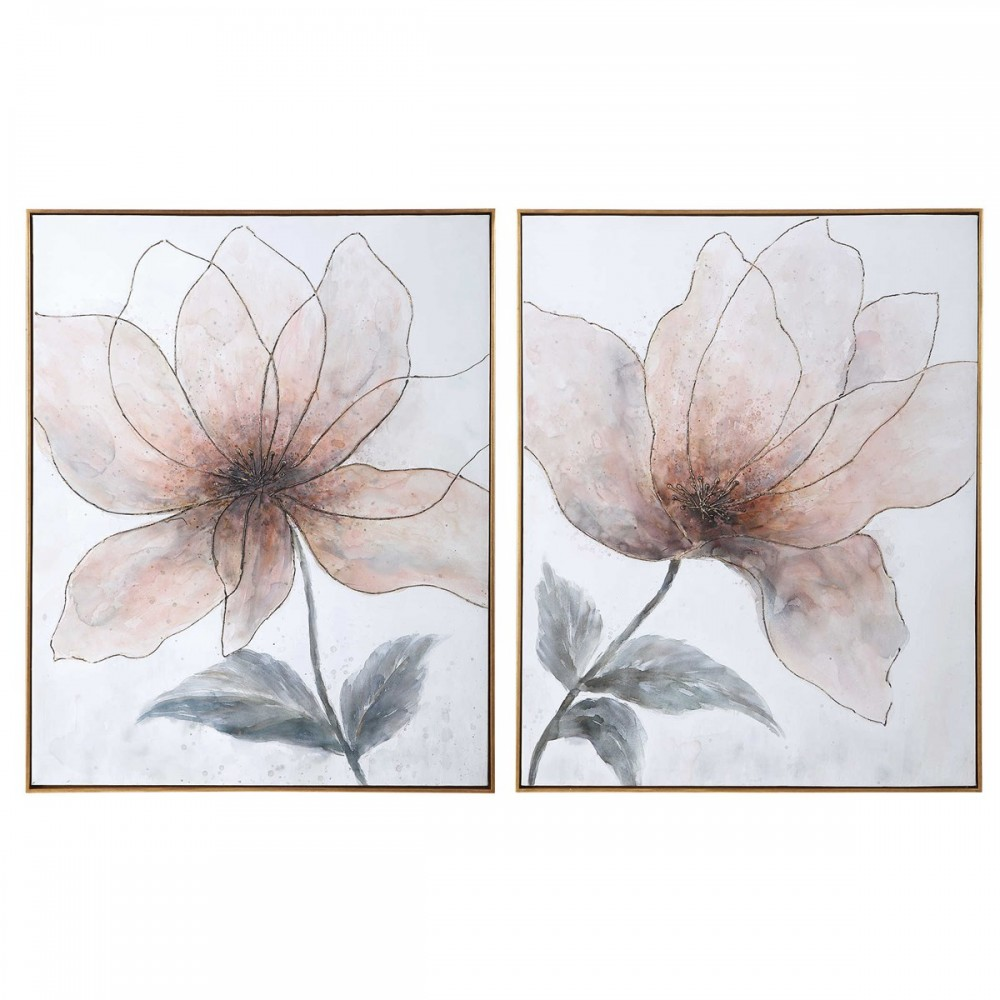 Vanishing Blooms - Framed Canvas Art (2/CN)