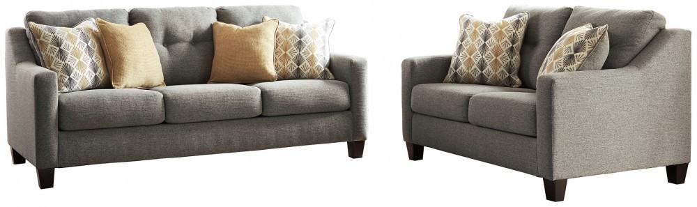 Daylon - Graphite Sofa and Loveseat Set