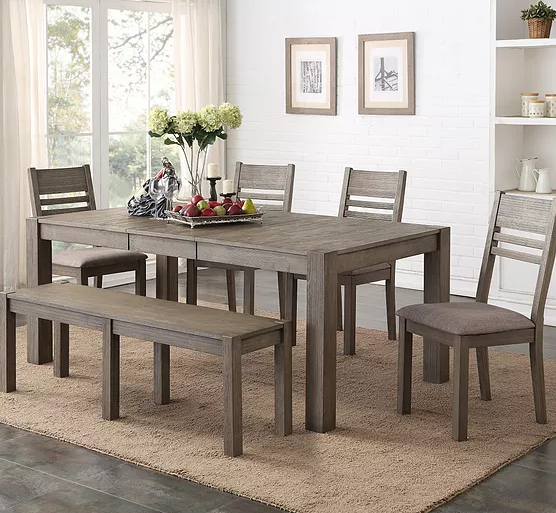 Holland House - Grey Traditional Height Dining Set (6/CN)