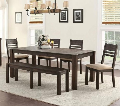 Holland House - Brown Traditional Height Dining Set (6/CN)