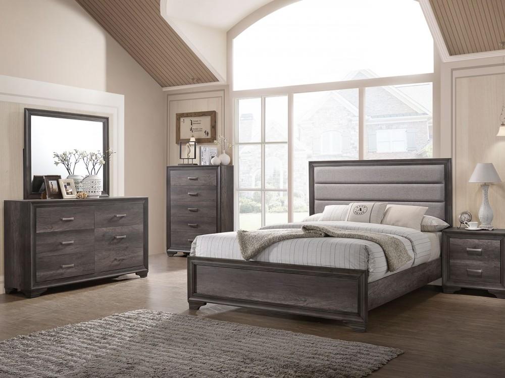 Santa Maria - Twin 4 Piece Upholstered Panel Bedroom Set