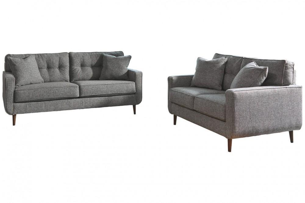 Zardoni - Charcoal Sofa and Loveseat Set