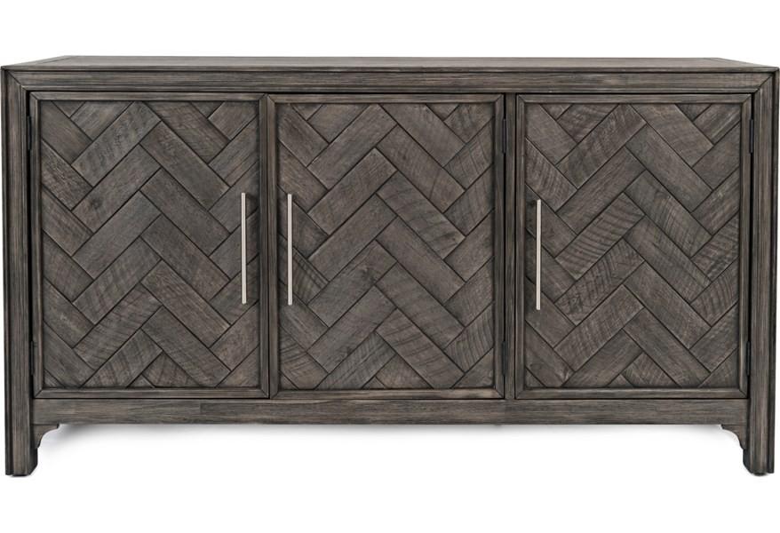 Gramercy - Platinum Three Door Accent Cabinet