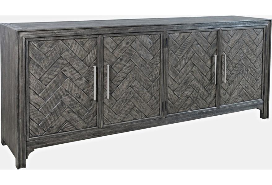 Gramercy - Platinum Four Door Accent Cabinet