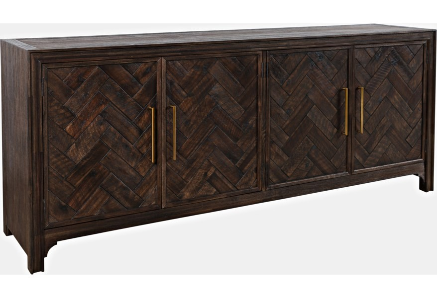 Gramercy - Brown Four Door Accent Cabinet