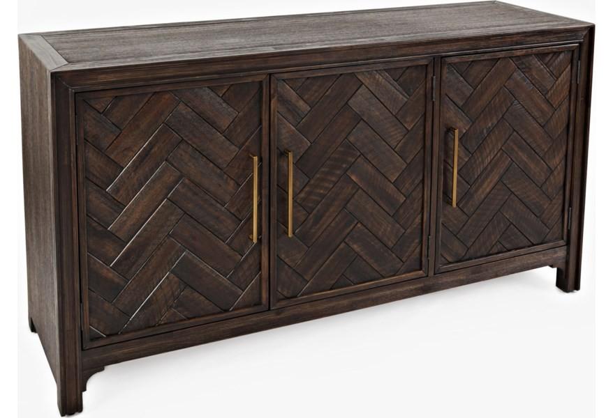 Gramercy - Brown Three Door Accent Cabinet