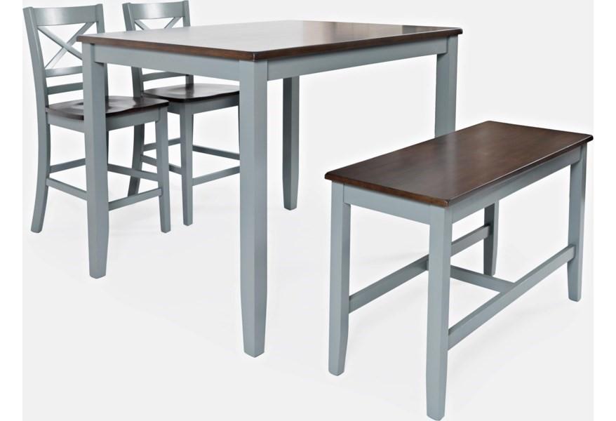 Asbury Park - Grey/Autumn Counter Dining Set