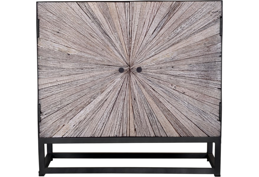 Astral Plains - Grey Wash Two Door Accent Cabinet