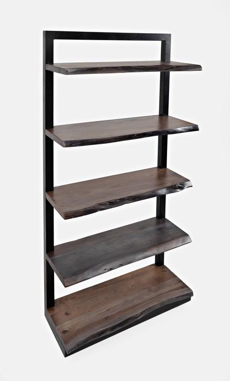 Nature's Edge - Slate 5 Shelf Bookcase