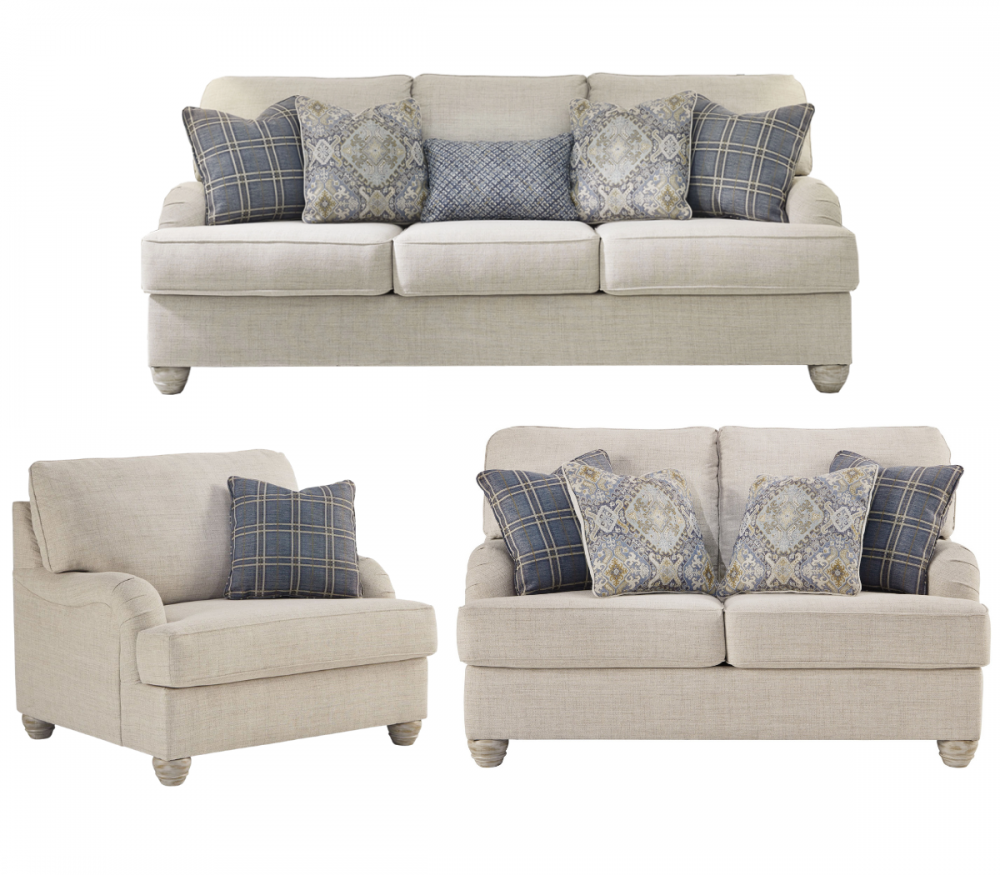 Traemore - Linen Sofa, Loveseat, and Oversized Chair Set