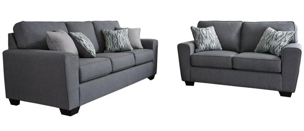 Calion - Gunmetal Sofa and Loveseat Set