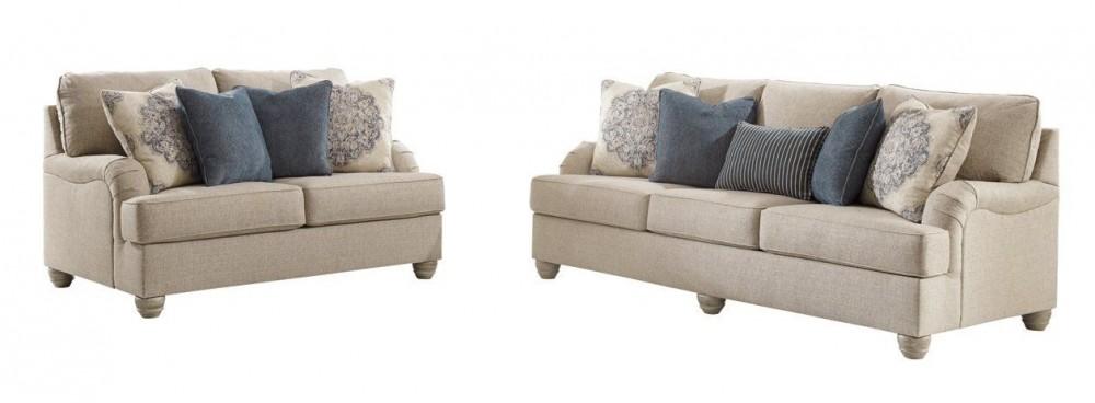 Dandrea - Bisque Sofa and Loveseat Set