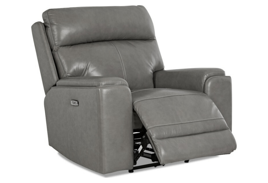 Santana - Gray Leather Power Recliner